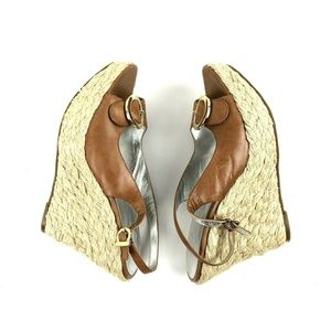 Jessica Simpson Giani 7.5B Tan Leather Espadrilles